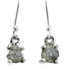 1.84cts natural diamond rough 925 sterling silver dangle earrings jewelry m68039