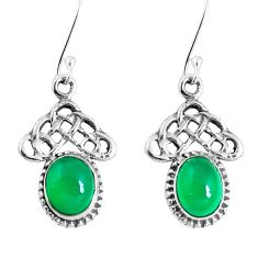 925 sterling silver natural green chalcedony dangle earrings jewelry m68994