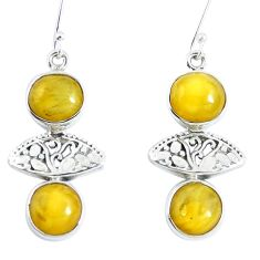 925 sterling silver yellow amber dangle earrings jewelry m72266