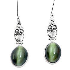 925 sterling silver green cats eye owl earrings jewelry m74173