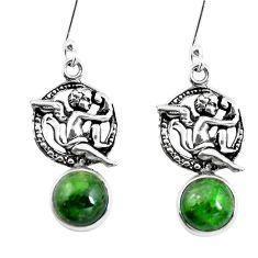 8.50ct natural apatite (madagascar) 925 silver cupid angel wings earrings m74185