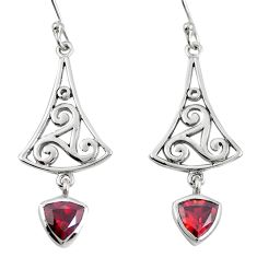 925 sterling silver natural red garnet dangle earrings jewelry m74800
