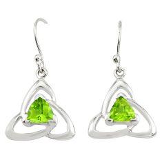 925 sterling silver natural green peridot dangle earrings jewelry m74824