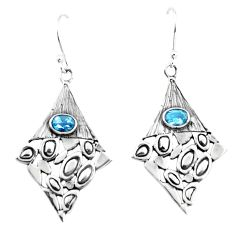 925 sterling silver natural blue topaz dangle earrings jewelry m81475