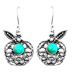 Blue arizona mohave turquoise 925 sterling silver apple charm earrings m82781