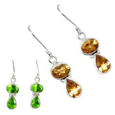 Purple alexandrite (lab) 925 sterling silver dangle earrings m86725