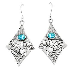 3.35cts natural blue topaz 925 sterling silver dangle earrings jewelry m90502
