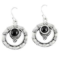 2.24cts natural black onyx 925 sterling silver dangle earrings jewelry m94641