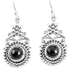 4.82cts natural black onyx 925 sterling silver dangle earrings jewelry m94816