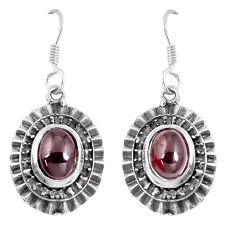 4.38cts natural red garnet 925 sterling silver dangle earrings jewelry m94922