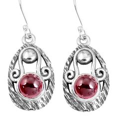 4.22cts natural red garnet 925 sterling silver dangle earrings jewelry m95029