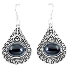 8.93cts natural black onyx 925 sterling silver dangle earrings jewelry m95088