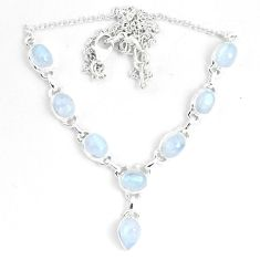 925 sterling silver 16.84cts natural rainbow moonstone necklace jewelry m96377