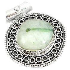925 sterling silver natural green tourmaline in quartz pendant jewelry m10220