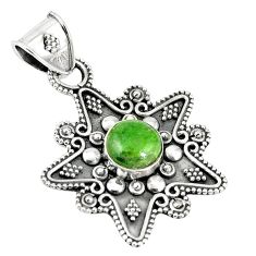 Natural green chrome diopside 925 sterling silver pendant jewelry m24122