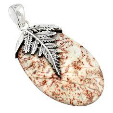 925 sterling silver natural pink rosetta stone jasper pendant jewelry m25964