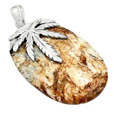925 sterling silver natural bronze wild horse magnesite pendant jewelry m25984
