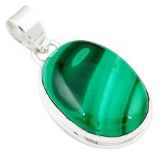 925 silver natural green malachite (pilot's stone) pendant jewelry m27738