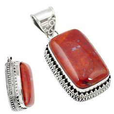 Natural brown vaquilla agate 925 sterling silver pendant jewelry m27957