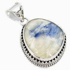 Natural blue dumortierite fancy 925 sterling silver pendant jewelry m28083
