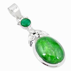 Natural green chrome diopside 925 sterling silver honey bee pendant m29823
