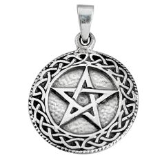 Buy celtic knot pentacle for protection wiccan 925 sterling silver pendant