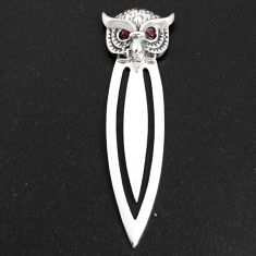 0.22cts natural red ruby 925 sterling silver bookmark jewelry