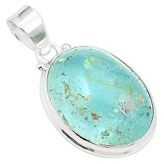 Natural untreated blue topaz 925 sterling silver pendant jewelry m33782
