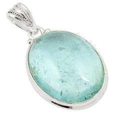Natural untreated blue topaz 925 sterling silver pendant jewelry m33785
