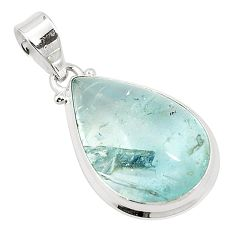 925 sterling silver natural untreated blue topaz pear pendant jewelry m33790