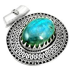 925 sterling silver natural blue labradorite oval pendant jewelry m40174