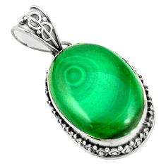 Natural green unakite 925 sterling silver pendant jewelry m40205