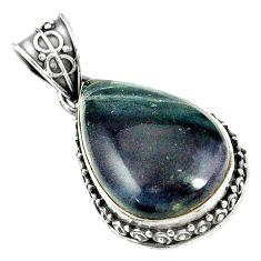 Natural multi color fluorite 925 sterling silver pendant jewelry m40219