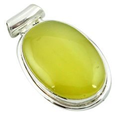 Natural olive opal 925 sterling silver pendant jewelry m48127