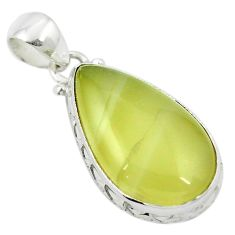 Natural olive opal 925 sterling silver pendant jewelry m48133