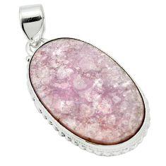 Natural purple muscovite 925 sterling silver pendant jewelry m52343
