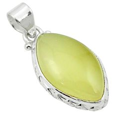 Natural olive opal 925 sterling silver pendant jewelry m53843