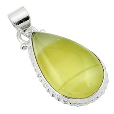 Natural olive opal 925 sterling silver pendant jewelry m53845