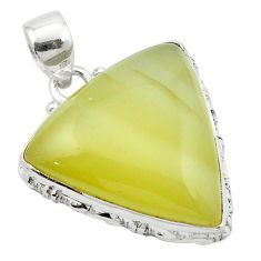 925 sterling silver natural olive opal pendant jewelry m53864