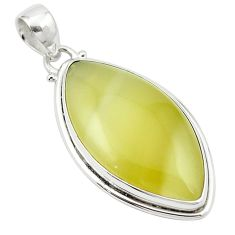 Natural olive opal 925 sterling silver pendant jewelry m53897