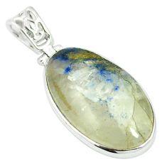 Natural blue dumortierite 925 sterling silver pendant jewelry m56561