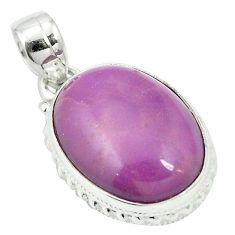 Natural purple phosphosiderite (hope stone) 925 silver pendant m56618