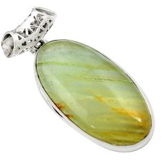28.73cts aquatine lemurian calcite 925 sterling silver pendant jewelry m62430