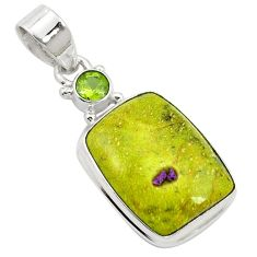 Natural atlantisite (tasmanite) stichtite-serpentine 925 silver pendant m62503