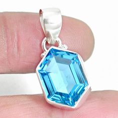 8.37cts natural blue topaz 925 sterling silver pendant jewelry m64064