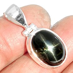 8.02cts natural black star 925 sterling silver pendant jewelry m64121