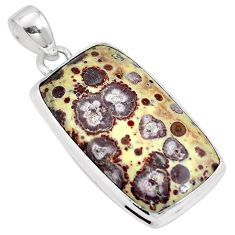 28.81cts natural brown asteroid jasper 925 sterling silver pendant m64710