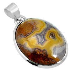 Natural white agua nueva agate 925 sterling silver pendant jewelry m66606
