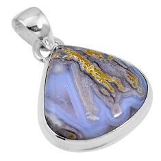 925 sterling silver natural white agua nueva agate pendant jewelry m66616