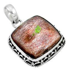 Natural purple muscovite 925 sterling silver pendant jewelry m67041